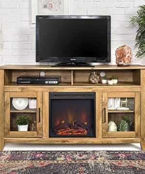 Farmhouse TV Stands With Fireplaces
