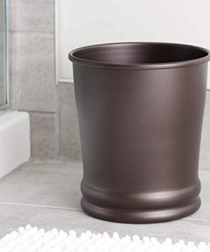 IDesign Olivia Metal Wastebasket Small Round Plastic Vintage Trash Can For Bathroom Bedroom Dorm College Office 9 X 9 X 10 Bronze 0 0 300x360