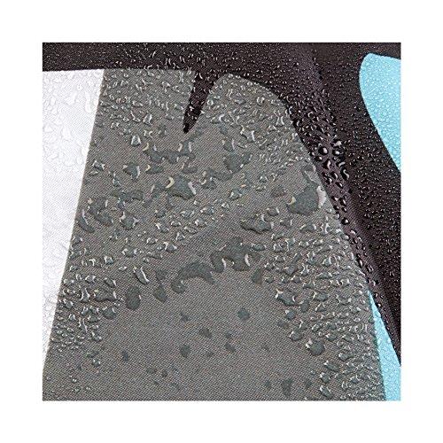 IDesign Thistle Fabric Shower Curtain Modern Mildew Resistant Bath Curtain For Master Bathroom Kids Bathroom Guest Bathroom 72 X 72 Inches Gray And Blue 0 2