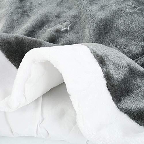 Yuboo Grey Christmas Tree Skirt 36 Fur Plush Christmas Decorations For Xmas Party And Holiday 0 3
