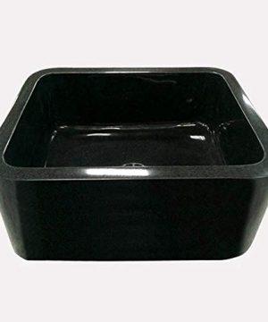 24 Mableton Smooth Polished Black Granite Single Bowl Farmhouse Sink 0 0 300x360
