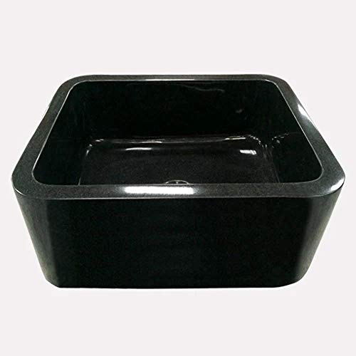 24 Mableton Smooth Polished Black Granite Single Bowl Farmhouse Sink 0 0