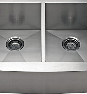 30 Apron Farmhouse Equal Double Bowl 16 Gauge Kitchen Sink 0 300x322