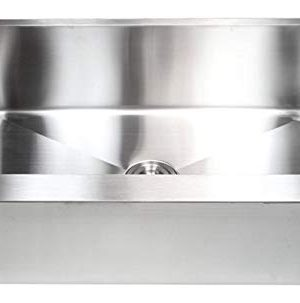 33 Inch Farmhouse Apron Front Stainless Steel Kitchen Sink Package 16 Gauge Flat Front Single Bowl Basin Complete Sink Pack Bonus Kitchen Accessories 0 3 300x303