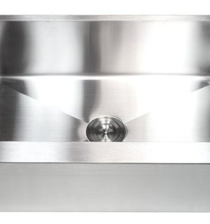 33 Inch Farmhouse Apron Front Stainless Steel Kitchen Sink Package 16 Gauge Flat Front Single Bowl Basin Complete Sink Pack Bonus Kitchen Accessories 0 5 300x320