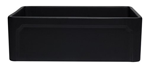 ALFI Brand AB3020SB BM 30 Reversible Single Fireclay Farmhouse Kitchen Sink Black Matte 0 0