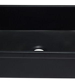 ALFI Brand AB3020SB BM 30 Reversible Single Fireclay Farmhouse Kitchen Sink Black Matte 0 1 300x331