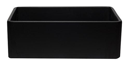 ALFI Brand AB3020SB BM 30 Reversible Single Fireclay Farmhouse Kitchen Sink Black Matte 0 4