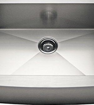 Alpha 24 Stainless Steel Apron Farmhouse Single Bowl 16 Gauge Kitchen Sink 0 300x334