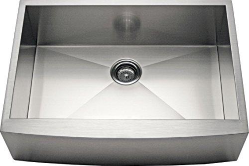 Alpha 24 Stainless Steel Apron Farmhouse Single Bowl 16 Gauge Kitchen Sink 0