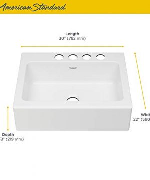 American Standard 77SB30220A308 Delancey 30 X 22 Single Bowl Apron Front Cast Iron Kitchen Sink 30 X 22 Inch Brilliant White 0 2 300x360