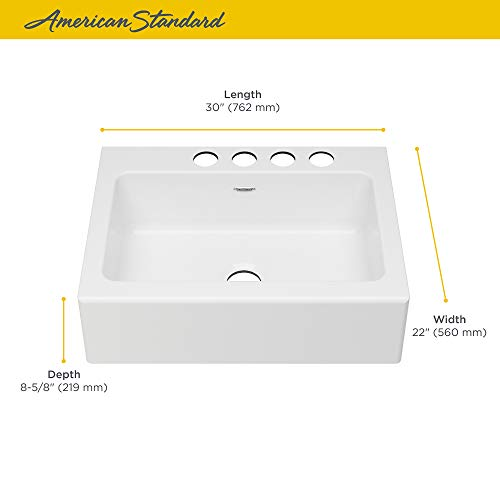 American Standard 77SB30220A308 Delancey 30 X 22 Single Bowl Apron Front Cast Iron Kitchen Sink 30 X 22 Inch Brilliant White 0 2