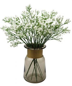Anatural Artificial Flowers Fake Flowers Babys Breath Gypsophila Flowers Steam Bouquet For Wedding Party Home Garden Table Centerpieces Decorations 10pcs 157 Inches White 0 300x360
