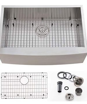 Bokaiya 33 Farmhouse Apron Front Sink Commercial 16 Gauge Undermount Deep Drop In Single Bowl Kitchen Sink Stainless Steel 0 300x360