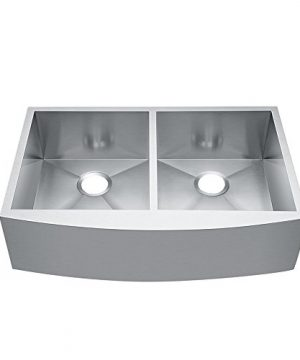 CRACCO SPA 33 X 20 X 9 Double Bowl Drop In Sink Farmhouse Stainless Steel Kitchen Sinks 0 300x360