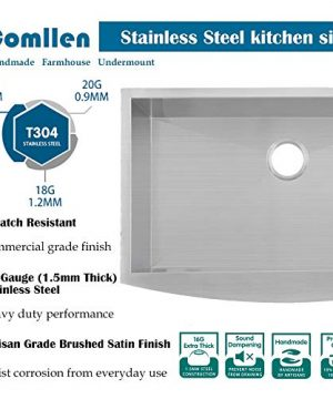 Commercial 36 Inch 304 Stainless Steel Farmhouse Kitchen Sink Single Bowl 16 Gauge 10 Inch Deep Handmade Undermount Kitchen Apron Sink 0 1 300x360