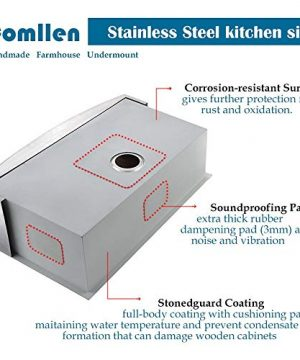 Commercial 36 Inch 304 Stainless Steel Farmhouse Kitchen Sink Single Bowl 16 Gauge 10 Inch Deep Handmade Undermount Kitchen Apron Sink 0 2 300x360