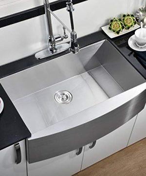 Commercial 36 Inch 304 Stainless Steel Farmhouse Kitchen Sink Single Bowl 16 Gauge 10 Inch Deep Handmade Undermount Kitchen Apron Sink 0 300x360