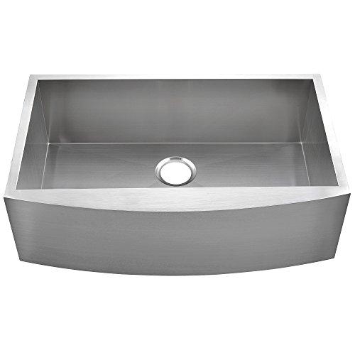 Commercial 36 Inch 304 Stainless Steel Farmhouse Kitchen Sink Single Bowl 16 Gauge 10 Inch Deep Handmade Undermount Kitchen Apron Sink 0 4