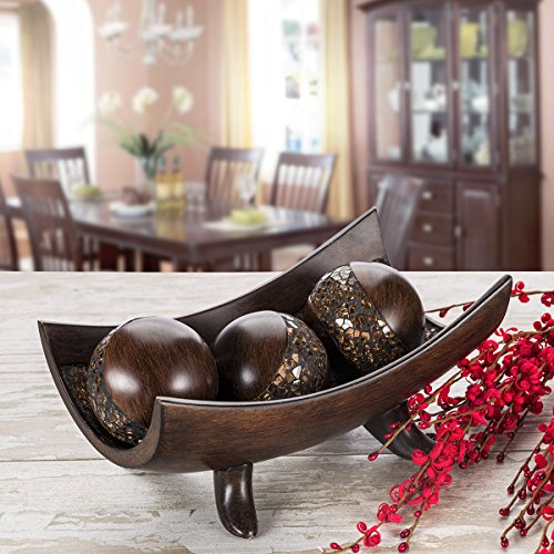 Schonwerk Decorative Bowl For Home Decor Centerpiece For Dining Room Table Coffee Table Decor Home Decorations For Farmhouse Goals