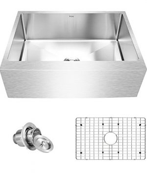 Inoxs 30 X 21 X 10 Farmhouse Apron Front Single Bowl 16 Gauge Handmade Stainless Steel Kitchen SinkI AES3021 0 300x360