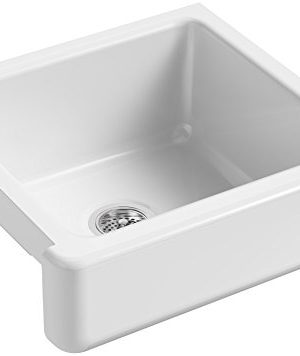 KOHLER-K-5664-0-Whitehaven-Farmhouse-Self-Trimming-Farmhouse-Undermount-Single-Bowl-Kitchen-Sink-with-Short-Apron-23-12-x-21-916-x-9-58-Inch-White-0
