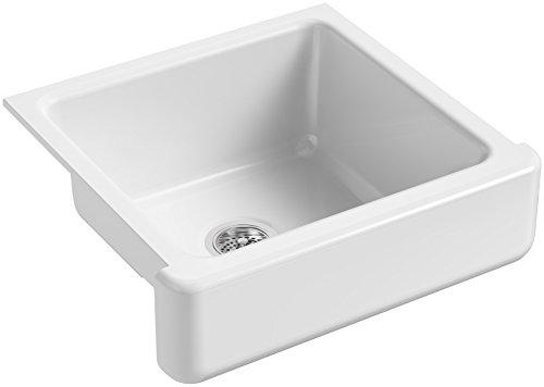 KOHLER-K-5664-0-Whitehaven-Farmhouse-Self-Trimming-Farmhouse-Undermount-Single-Bowl-Kitchen-Sink-with-Short-Apron-23-12-x-21-916-x-9-58-Inch-White-0