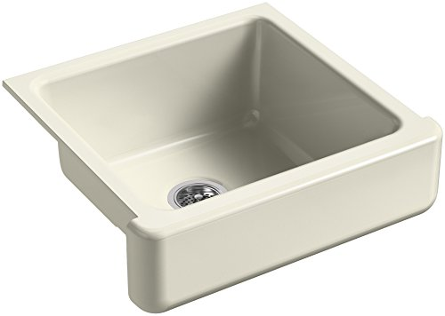 KOHLER-K-5664-FD-Whitehaven-Farmhouse-Self-Trimming-23-12-Inch-x-21-916-Inch-x-9-58-Inch-Undermount-Single-Bowl-Kitchen-Sink-with-Short-Apron-Cane-Sugar-0