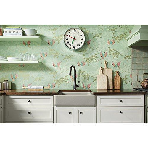 KOHLER K 5664 G9 Whitehaven Farmhouse Self Trimming 23 12 Inch X 21 916 Inch X 9 58 Inch Undermount Single Bowl Kitchen Sink With Short Apron Sandbar 0 0