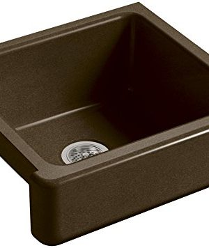 KOHLER-K-5664-KA-Whitehaven-Farmhouse-Self-Trimming-23-12-Inch-x-21-916-Inch-x-9-58-Inch-Undermount-Single-Bowl-Kitchen-Sink-with-Short-Apron-Black-n-Tan-0