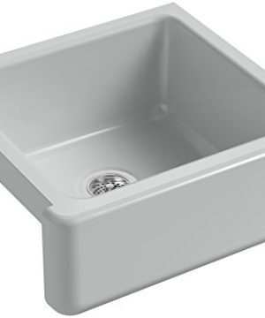 KOHLER-K-5665-95-Whitehaven-Farmhouse-Self-Trimming-23-1116-Inch-x-21-916-Inch-x-9-58-Inch-Undermount-Single-Bowl-Kitchen-Sink-with-Tall-Apron-Ice-Grey-0