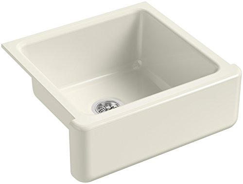 KOHLER-K-5665-96-Whitehaven-Farmhouse-Self-Trimming-23-1116-Inch-x-21-916-Inch-x-9-58-Inch-Undermount-Single-Bowl-Kitchen-Sink-with-Tall-Apron-Biscuit-0