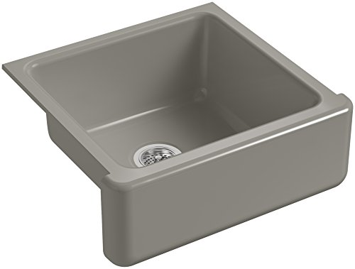 KOHLER-K-5665-K4-Whitehaven-Farmhouse-Self-Trimming-23-1116-Inch-x-21-916-Inch-x-9-58-Inch-Undermount-Single-Bowl-Kitchen-Sink-with-Tall-Apron-Cashmere-0