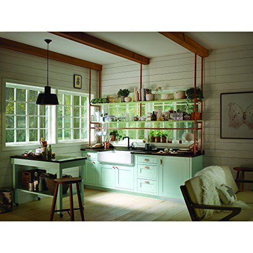 KOHLER K 6351 0 Whitehaven Hayridge Under Mount Single Bowl Kitchen Sink With Tall Apron White 0 0