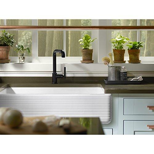 KOHLER K 6351 0 Whitehaven Hayridge Under Mount Single Bowl Kitchen Sink With Tall Apron White 0 3