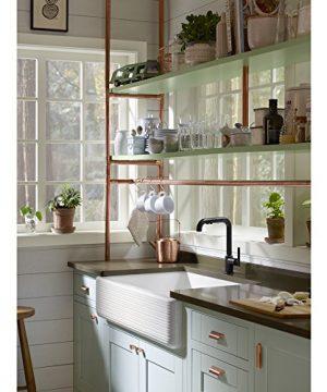 KOHLER K 6351 0 Whitehaven Hayridge Under Mount Single Bowl Kitchen Sink With Tall Apron White 0 4 300x360