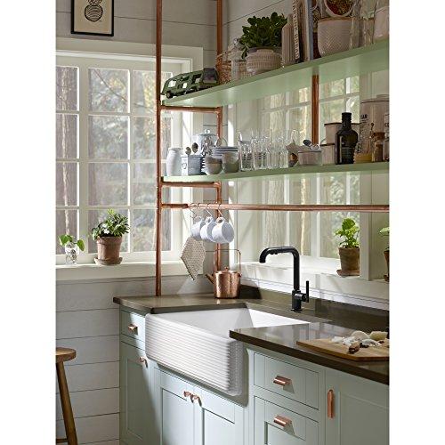 KOHLER K 6351 0 Whitehaven Hayridge Under Mount Single Bowl Kitchen Sink With Tall Apron White 0 4