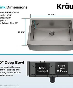 Kraus KHF200 30 1650 41SS 30 Inch Stainless Steel Combo With Single Bowl 16 Gauge Apron Front Farmhouse Sink And Nola Commercial Kitchen Faucet With Soap Dispenser 0 3 300x360