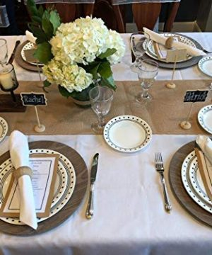 Leraze Elegant Decorative Votive Candle Holder Centerpiece 5 Glass Votive Cups On Wood BaseTray For Wedding Decoration Dining Table 0 1 300x360