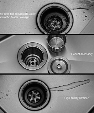 Logmey 33 Inch Black Luxury Farmhouse Apron Deep Single Bowl 16 Gauge Stainless Steel Kitchen Sink 0 2 300x360
