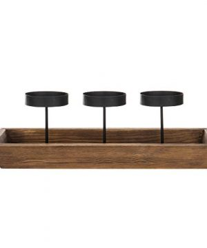MyGift 3 Pillar Candle Holder With Rustic Wood Tray 0 3 300x360