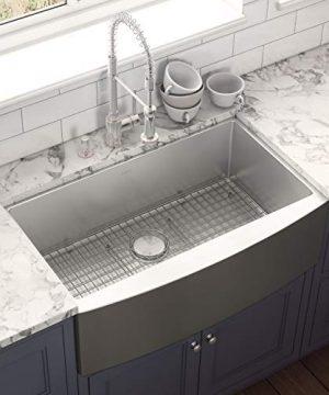 Ruvati 33 Inch Farmhouse Apron Front Kitchen Sink Stainless Steel Single Bowl RVH9233 0 0 300x360