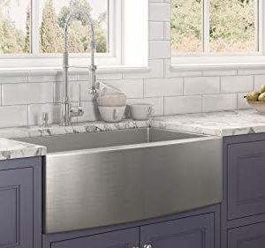 Ruvati 33 Inch Farmhouse Apron Front Kitchen Sink Stainless Steel Single Bowl RVH9233 0 1 300x281