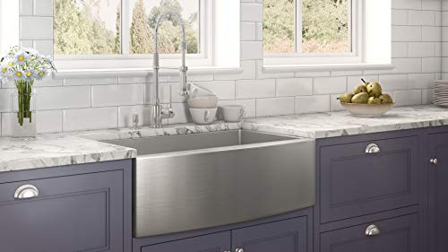 Ruvati 33 Inch Farmhouse Apron Front Kitchen Sink Stainless Steel Single Bowl RVH9233 0 1
