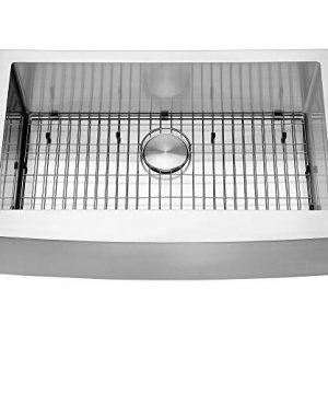 Ruvati 33 Inch Farmhouse Apron Front Kitchen Sink Stainless Steel Single Bowl RVH9233 0 2 300x360