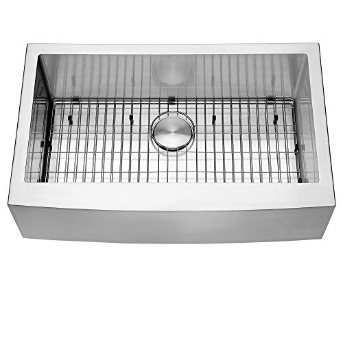 Ruvati 33 Inch Farmhouse Apron Front Kitchen Sink Stainless Steel Single Bowl RVH9233 0 2