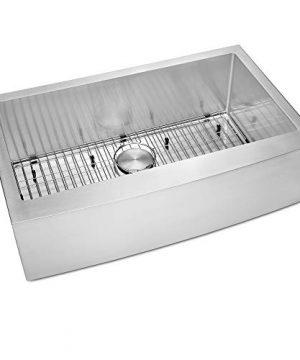 Ruvati 33 Inch Farmhouse Apron Front Kitchen Sink Stainless Steel Single Bowl RVH9233 0 3 300x360