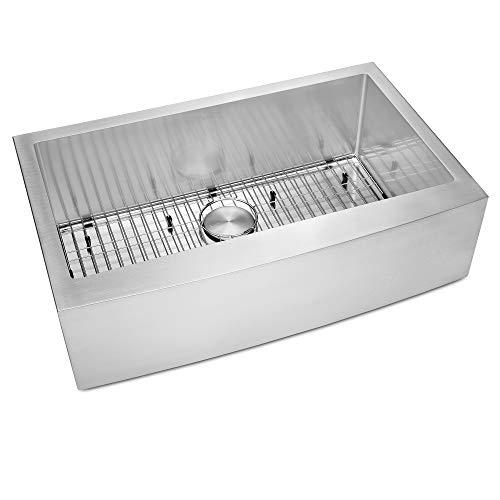 Ruvati 33 Inch Farmhouse Apron Front Kitchen Sink Stainless Steel Single Bowl RVH9233 0 3