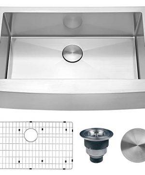 Ruvati 33 Inch Farmhouse Apron Front Kitchen Sink Stainless Steel Single Bowl RVH9233 0 300x360