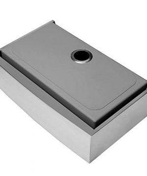 Ruvati 33 Inch Farmhouse Apron Front Kitchen Sink Stainless Steel Single Bowl RVH9233 0 4 300x360